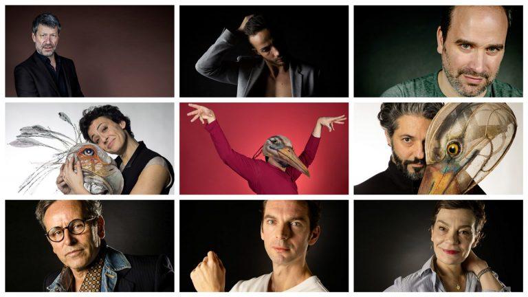 Portraits de comédiens