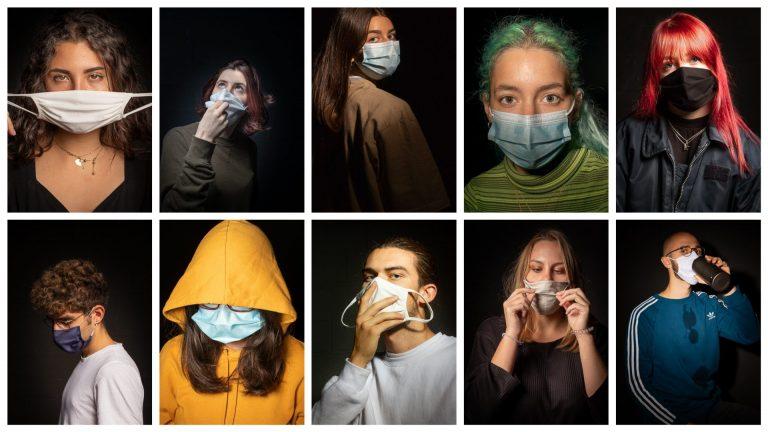 Des masqués